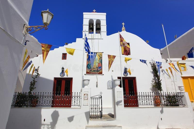 Mykonos, Greece. Orthodox church in Mykonos, Greece stock photography