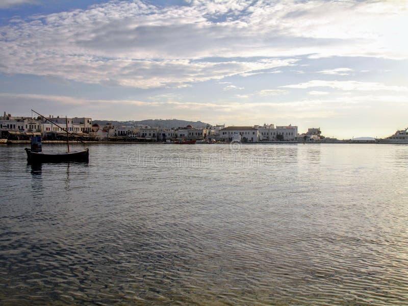 Mykonos grekiska öar arkivfoto