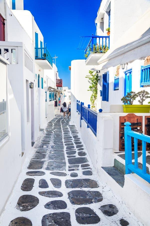 Mykonos grekiska öar, Grekland royaltyfri fotografi