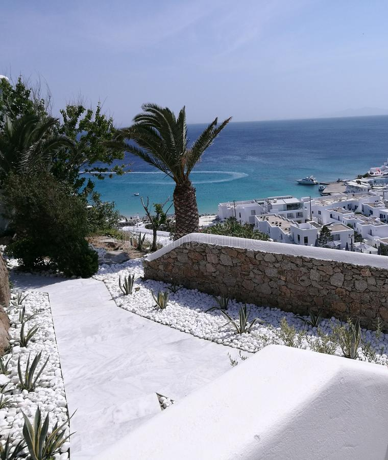 Mykonos-Inselleben lizenzfreies stockfoto