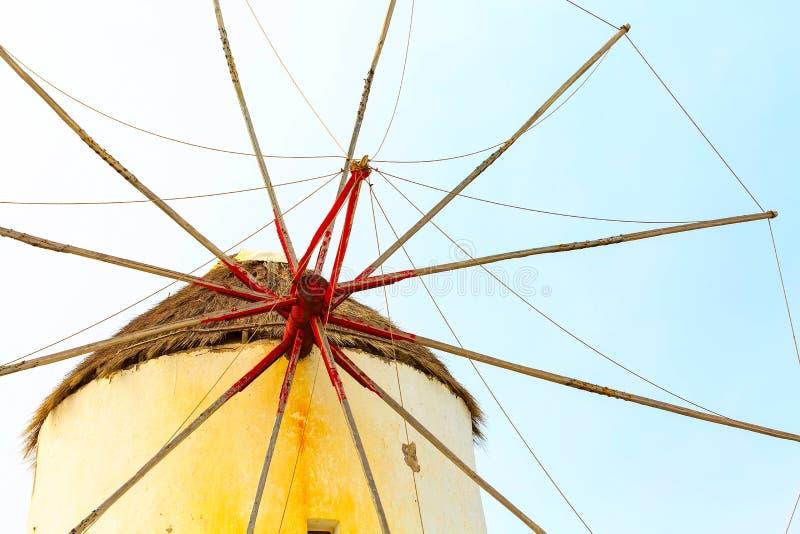 Mykonos-Inselwindmühle in Griechenland, die Kykladen stockfotografie