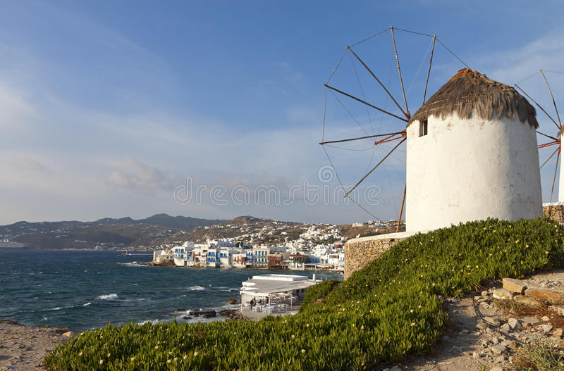 Download Mykonos island in Greece stock image. Image of location - 31278069
