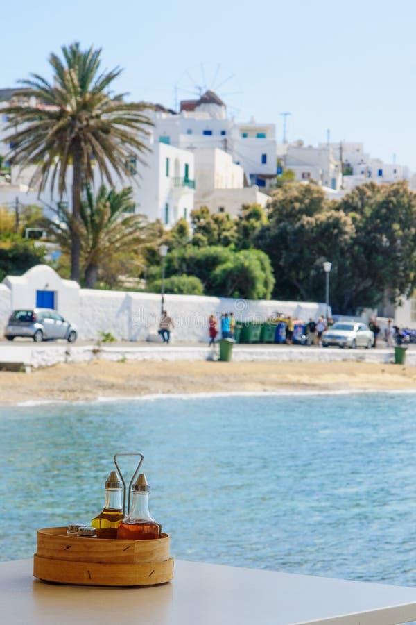 Mykonos miasteczka widok obrazy stock