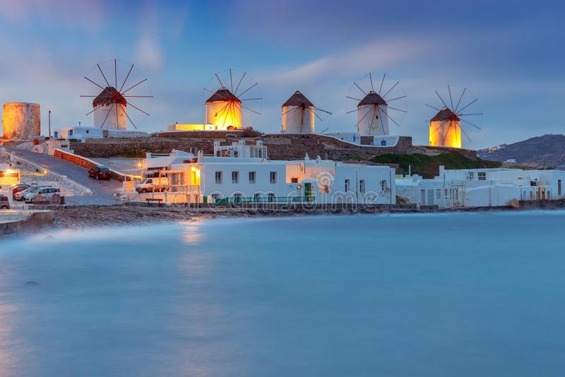 Mykonos. An old traditional windmill. royalty free stock image