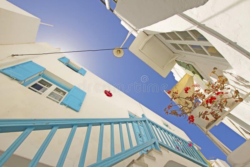 Mykonos Stadt lizenzfreies stockbild