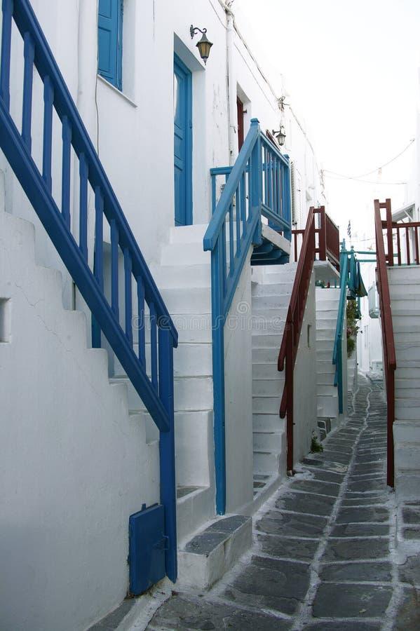 Mykonos Stairs Stock Photo