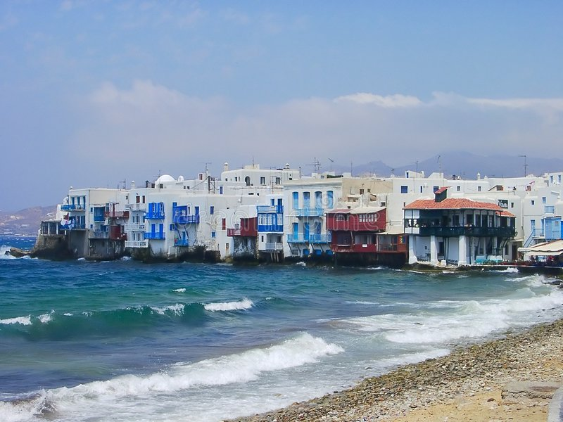 Mykonos view royalty free stock photos
