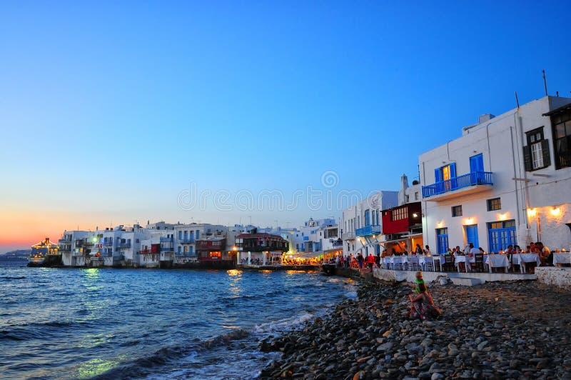 Mykonos wenig Venedig, die Kykladen, Griechenland stockfotografie