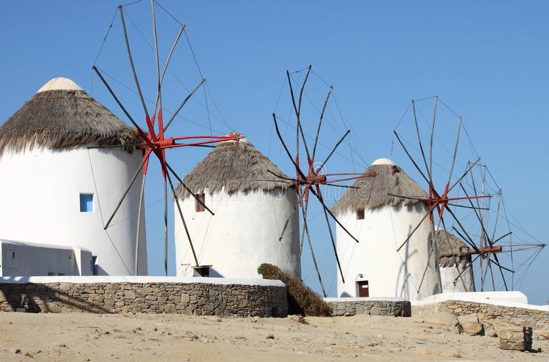 Download Mykonos Windmills stock image. Image of marine, architecture - 26207343