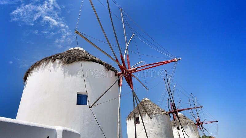 Mykonos Windmills royaltyfri bild