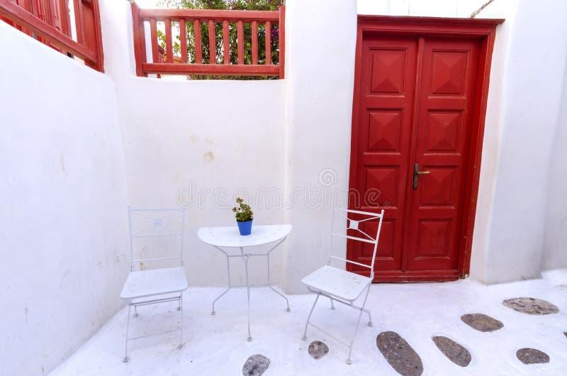 Mykonos wyspy architektura, Grecja fotografia stock