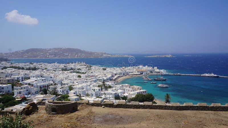 Mykonoshaven, Mykonos-Eiland, Griekenland stock fotografie