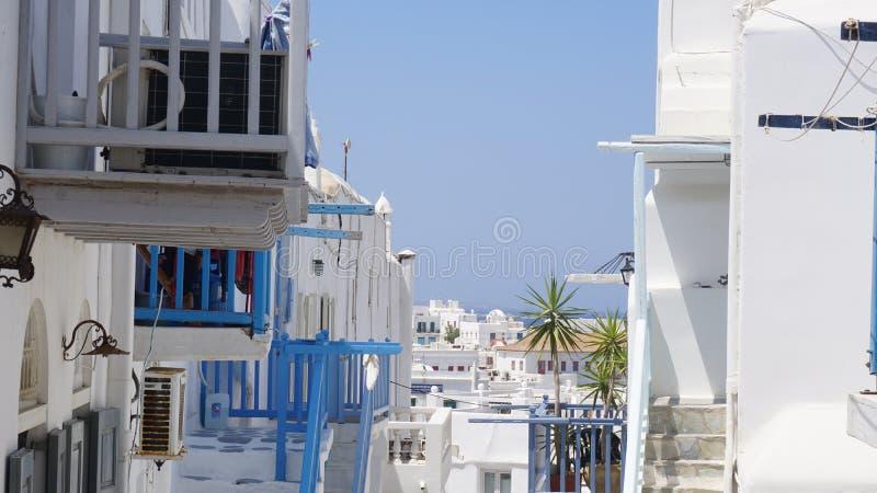 Mykonoshaven, Mykonos-Eiland, Griekenland royalty-vrije stock afbeeldingen
