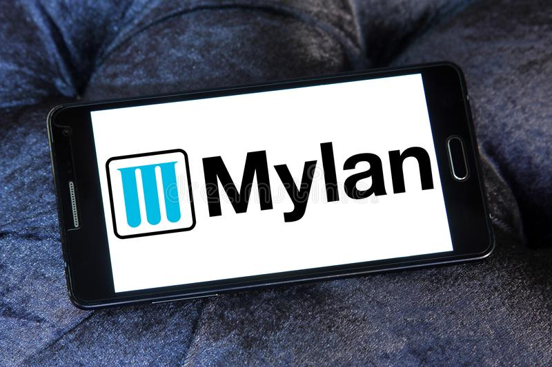 Mylan Pharmaceuticals Company Logo Editorial Stock Image