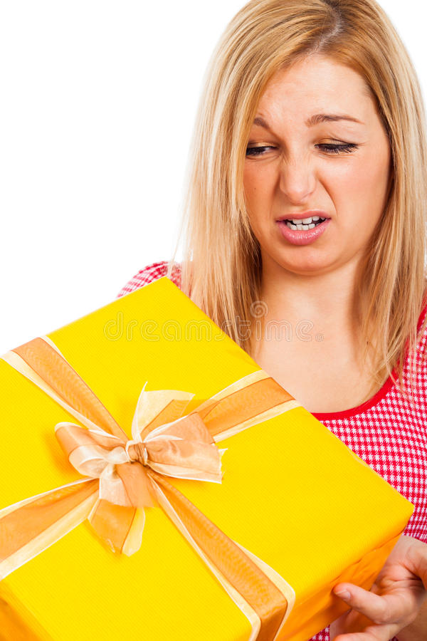 Mylny prezent zdjęcie stock