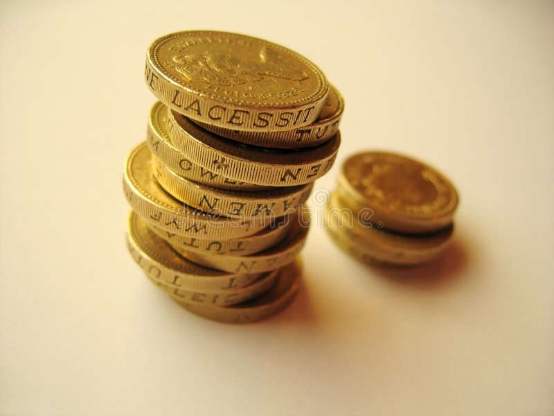 mynt 1 arkivfoton