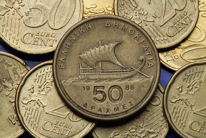 Mynt av Grekland arkivfoton