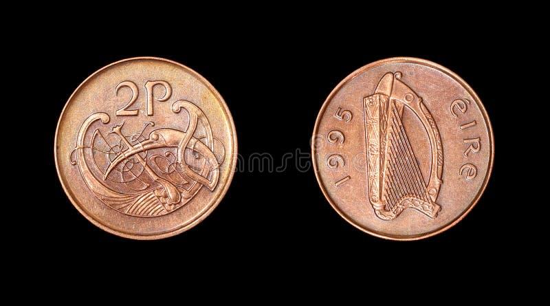 Mynt av Irland. Århundrade XX royaltyfria foton