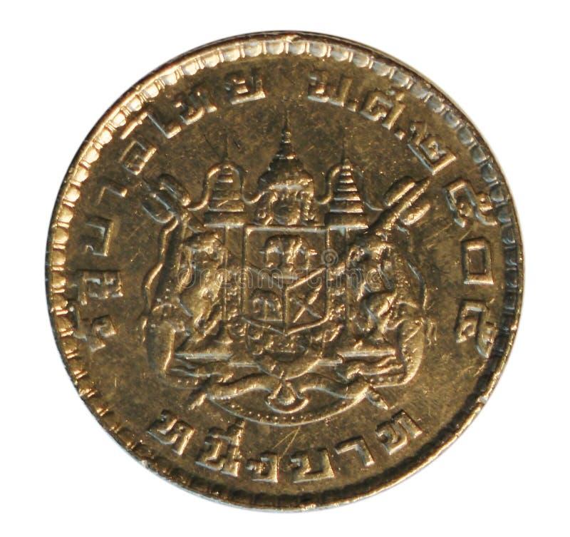 Mynt av Thailand Stående för konung Bhumibol Adulyadej royaltyfri bild