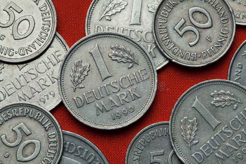 Mynt av Tyskland fotografering för bildbyråer