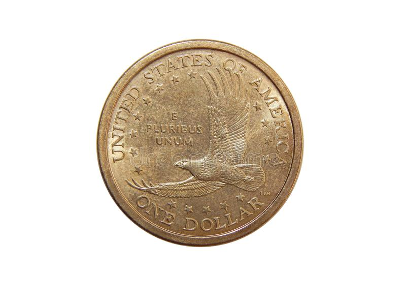Mynt en US dollar royaltyfri bild
