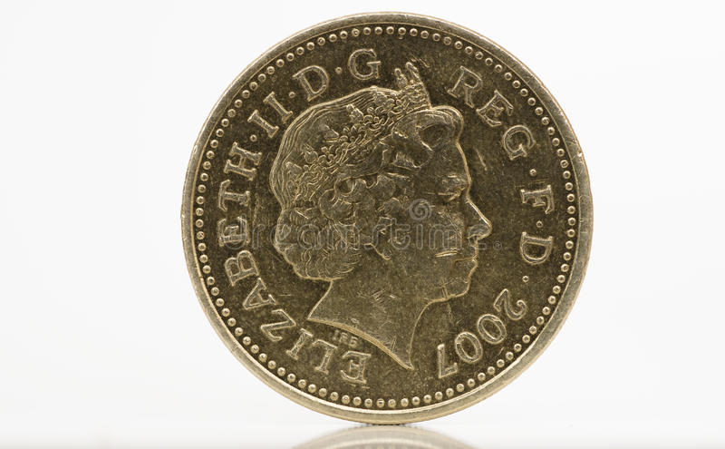mynt ett pund royaltyfria foton
