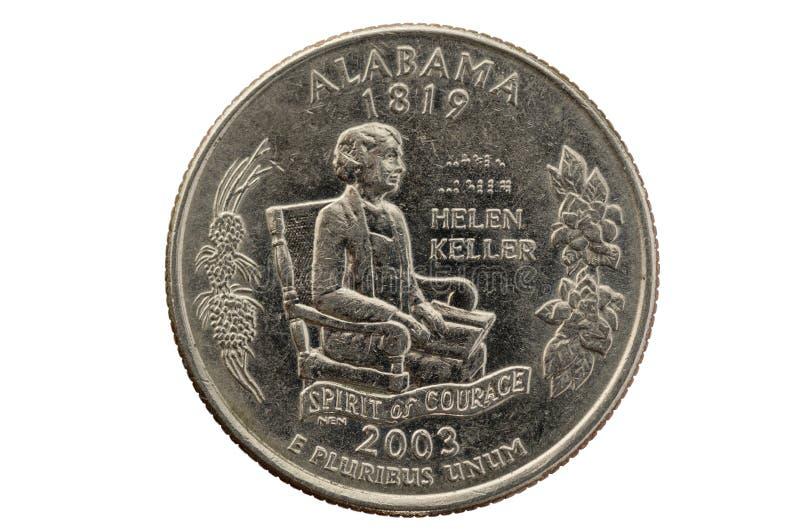 Mynt för Alabama statfjärdedel royaltyfri fotografi