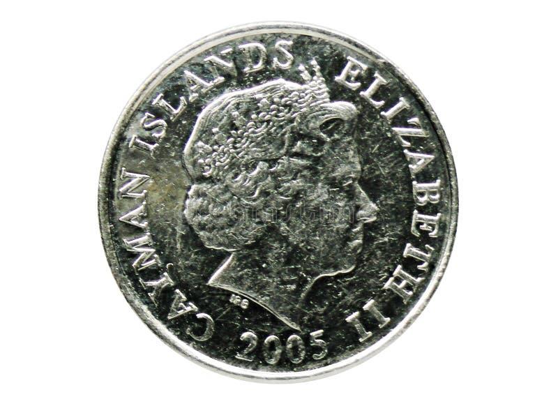 Mynt för 10 cent Hawksbill sköldpadda, bank av Caymanöarna Omvänt 1999 arkivfoto