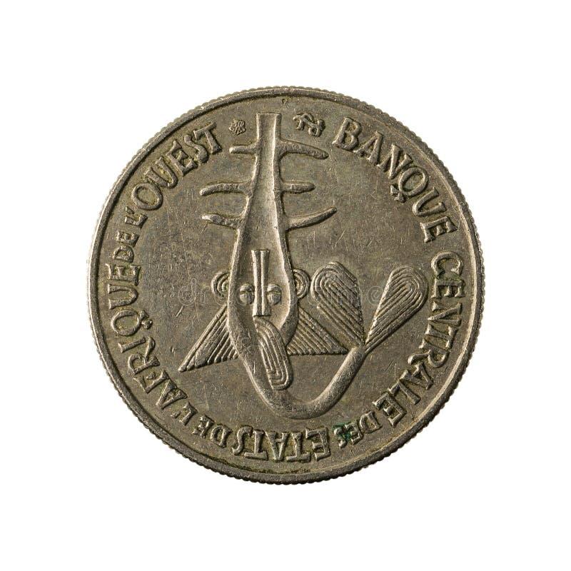 mynt 1996 för franc för 50 omvänt centralt afrikanCFA arkivbild