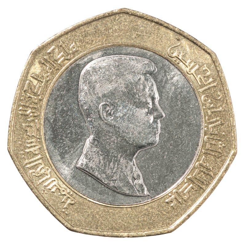 Mynt för jordansk dinar arkivfoto