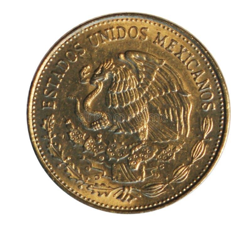 Mynt för 50 Pesos som (Benito Juarez) utfärdas på 1984 Bank av Mexico Beträffande royaltyfri foto