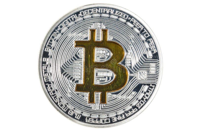 Mynt för singel BTC Bitcoin fotografering för bildbyråer