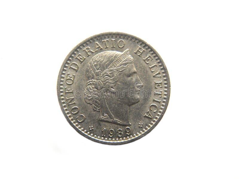 Mynt för tjugo Rappen fotografering för bildbyråer