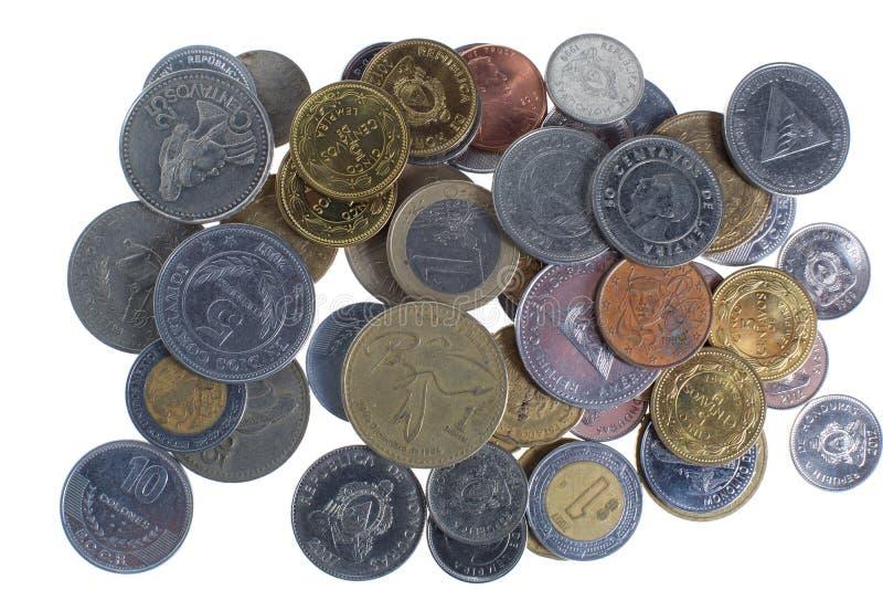 Mynt från olika länder arkivbilder