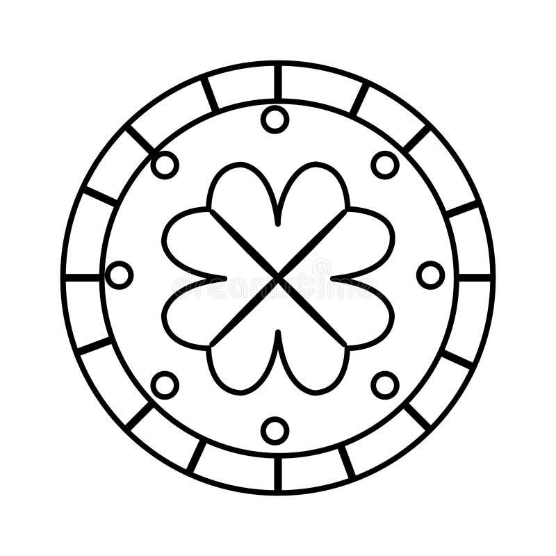 Mynt med dag för växt av släktet Trifoliumhelgonpatricks vektor illustrationer