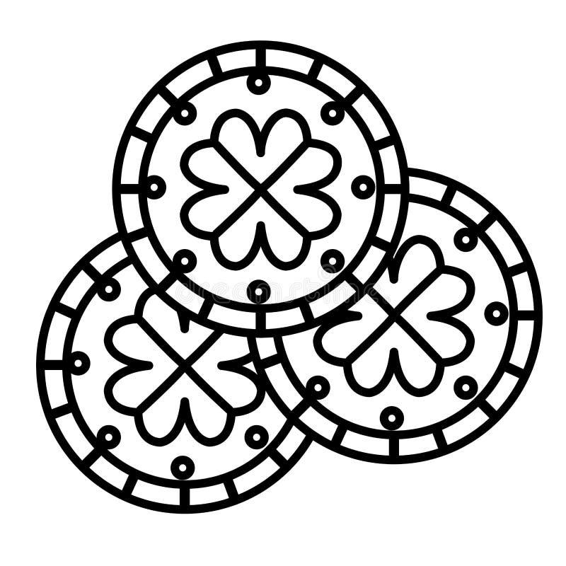 Mynt med dag för växt av släktet Trifoliumhelgonpatricks stock illustrationer