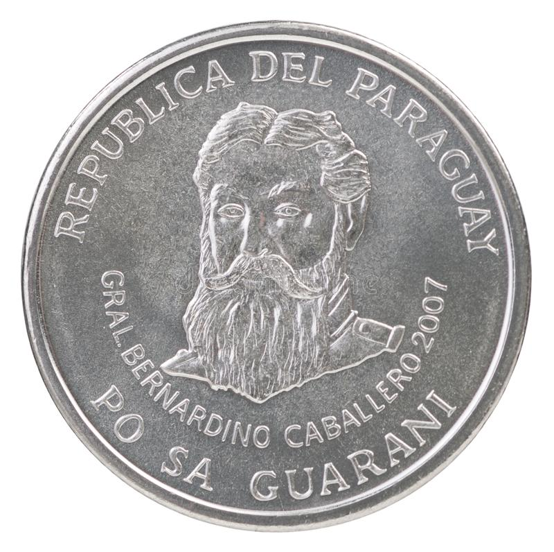 Mynt Paraguay Guarani fotografering för bildbyråer