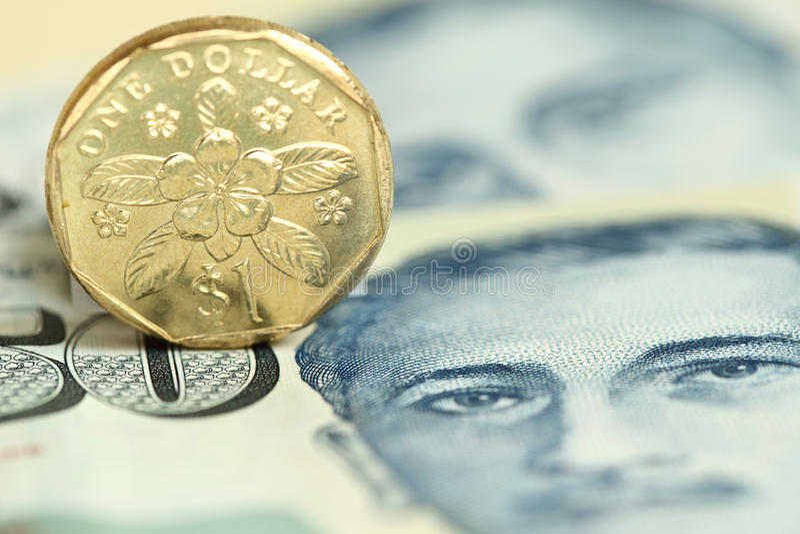 mynt singapore royaltyfria bilder