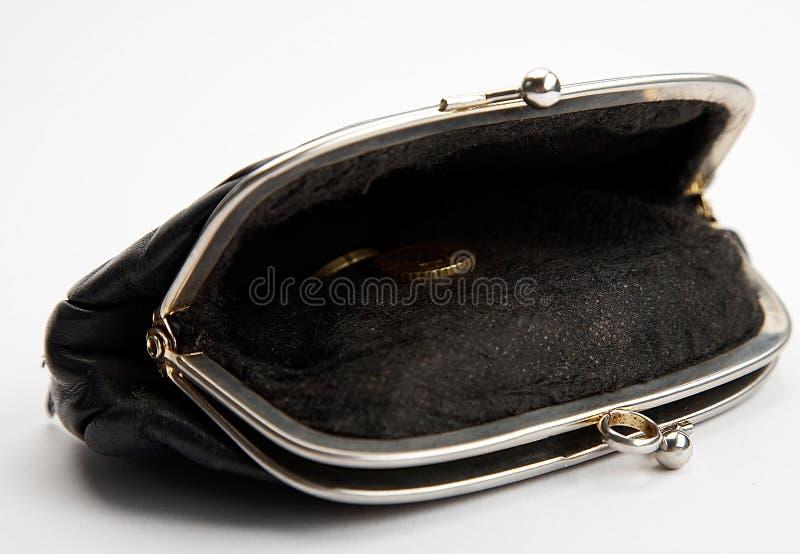 mynt sist handväskan arkivfoton