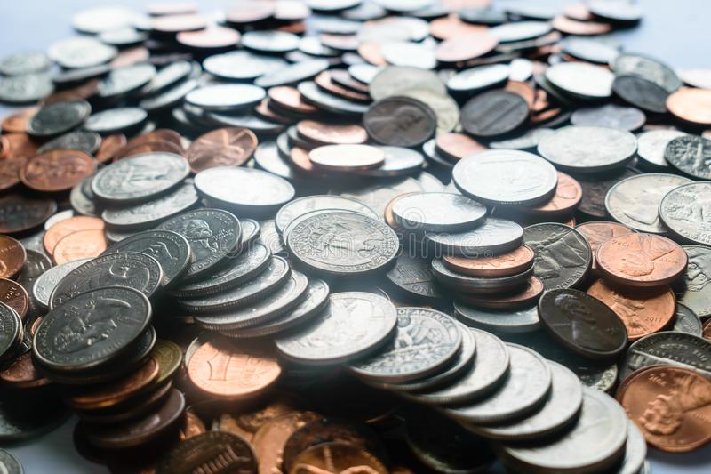 Myntbakgrund arkivbild