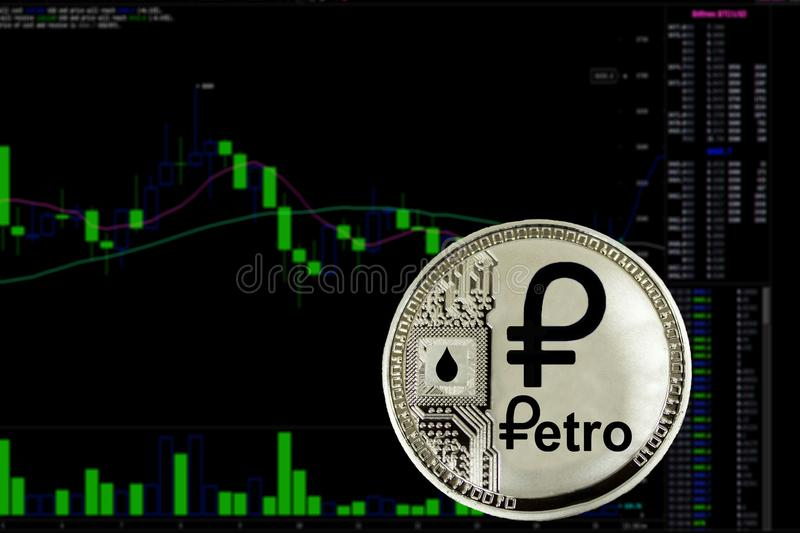 Myntcryptocurrency Petro arkivfoto