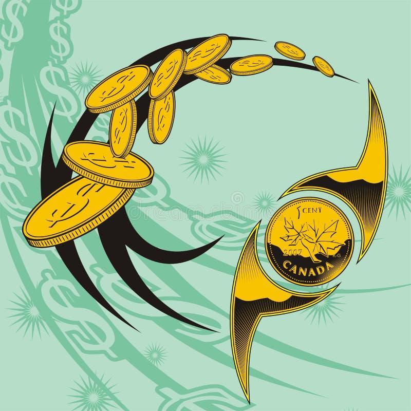 Myntdesign vektor för set för tecknad filmhjärtor polar vektor illustrationer
