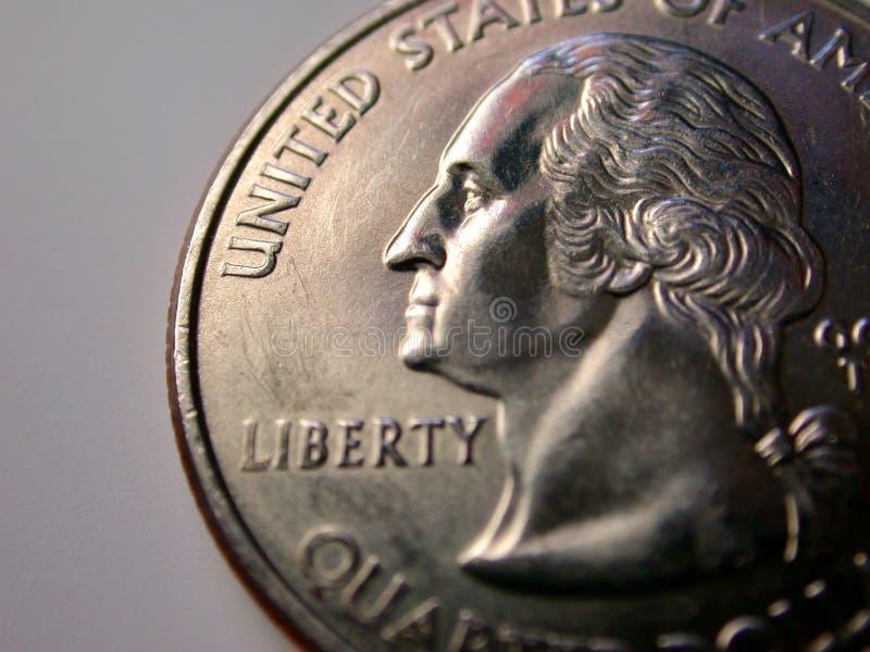 Download Myntfjärdedel USA arkivfoto. Bild av pengar, silver, george - 45558