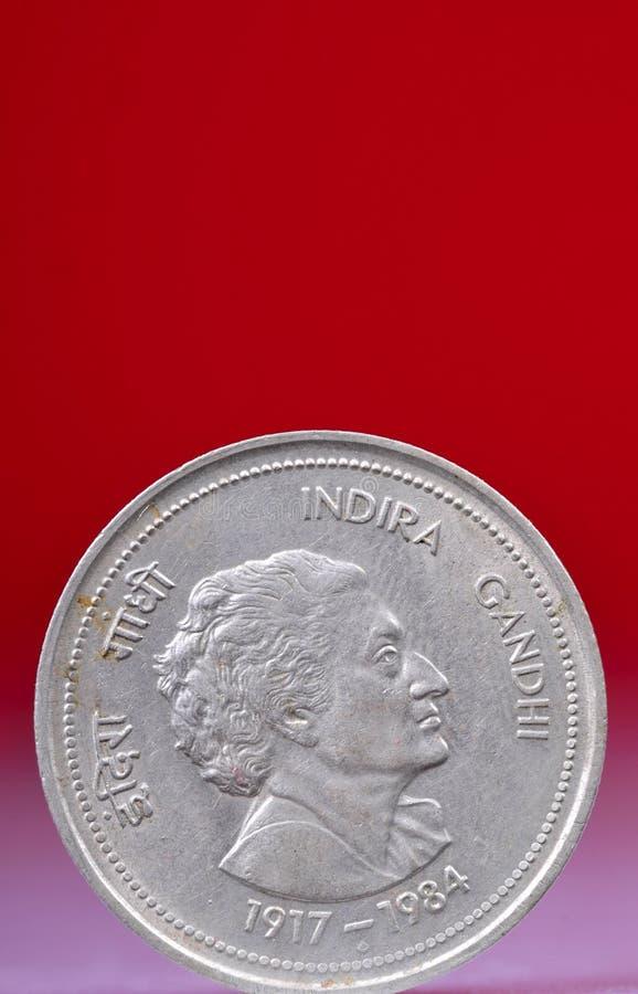 myntgandhiindira royaltyfri bild