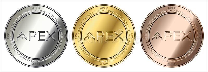 Myntuppsättning för topp CPX royaltyfria foton