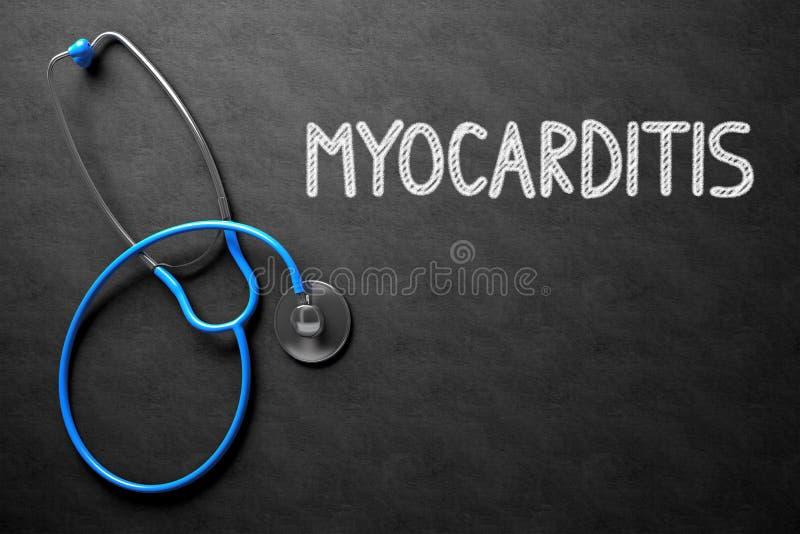 Myocarditis έννοια στον πίνακα κιμωλίας τρισδιάστατη απεικόνιση στοκ φωτογραφία με δικαίωμα ελεύθερης χρήσης