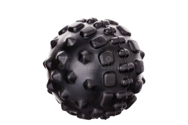 Myofascial rubber boll för själv-massage På vitbakgrund arkivfoto