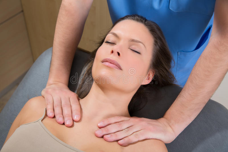 Download Myofascial Therapy On Beautiful Woman Shoulders Stock Image - Image: 29832017