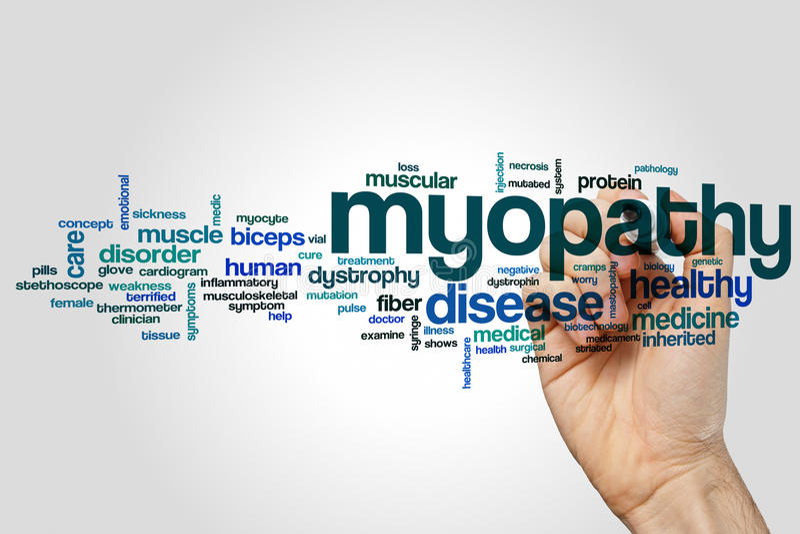 Myopathy word cloud royalty free stock photo