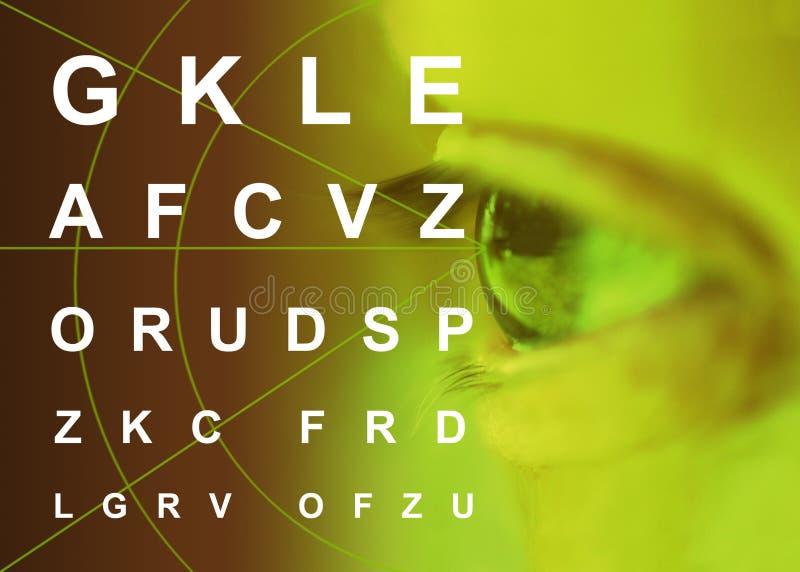 Myopia astigmatism. Ipermetropia oculist test eyes pathology stock image